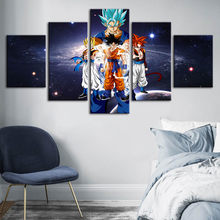 Canvas HD Prints Painting Dragon Ball Wall Art Cartoon Character Poster Modern Home Decoration Modular Pictures For Living Room(China)
