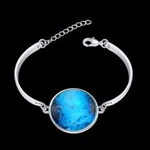 2016 Luminous Series European&American popular style silver plated bracelet Pisces Starlight luminous bracelet jewelry Gift