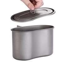 TOAKS 950ml Titanium Cup Titanium Military Lunch Box Titanium Canteen Cup with Lid Camping Titanium Military Pot