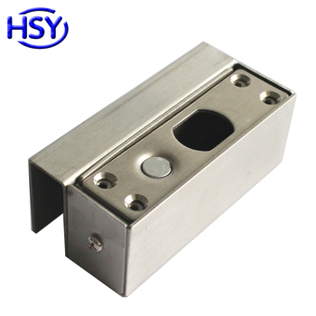 Stainless Steel Drop Bolt Door Lock Bracket use for Access Control electric Lock Frameless Glass Doors image
