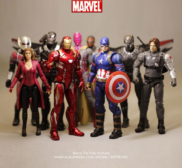 Disney Marvel Avengers 3 Iron Man Spider Man hulk 16-17cm Action Figure Anime Decoration Collection Figurine Toy model children