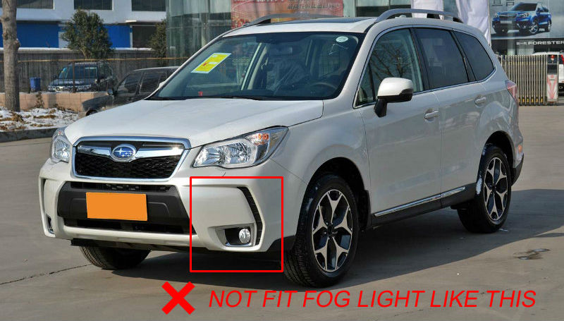 4pcs Front And Rear Fog Light Cover For Subaru Forester Sj 2017 2016 Lamp Chrome Trim Kit Foglight Styling Accessories In Car Stickers From Automobiles