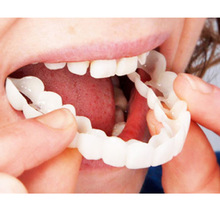 Teeth Whitening Dental Snap On Smile Instant One Size Fits Most Comfortable New Denture Care False Tooth for Upper