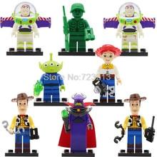Única Venda Brinquedo IV Figura História Buzz Lightyear Woody Jessie Aliens Building Blocks Set Modelos Brinquedos SY172 JR1712