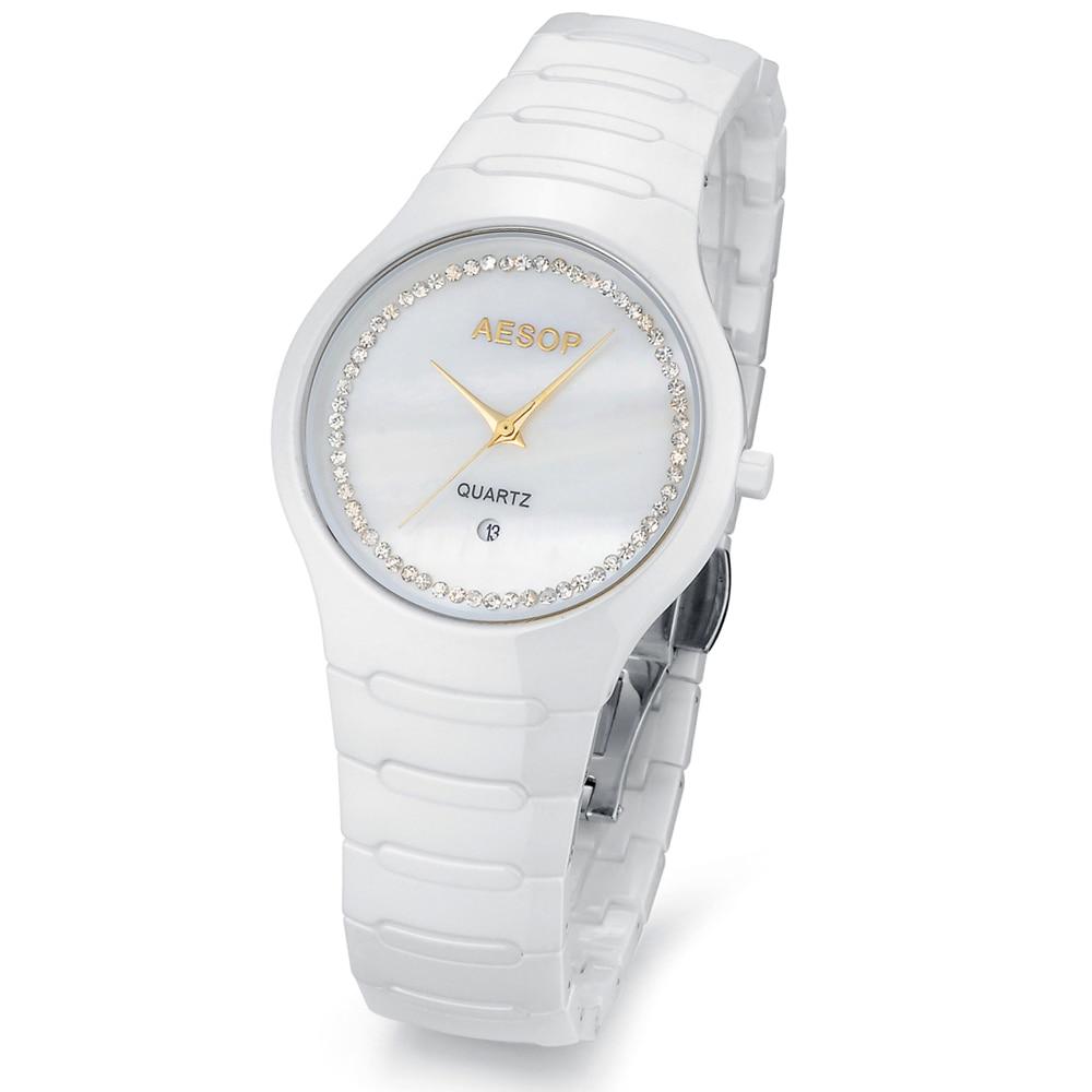 Aesop watch fashion ceramic watches watch men's rhinestone wristwatch best design 9901 free shipping