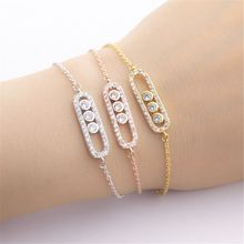 Stylish Crystal Beads Bracelet & Bangles For Women Men Boho Jewelry Best Friend Gifts Charm Gold Link Chain