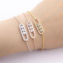 Stylish Crystal Beads Bracelet & Bangles For Women Men Boho Jewelry Best Friend Gifts Charm Gold Link Chain