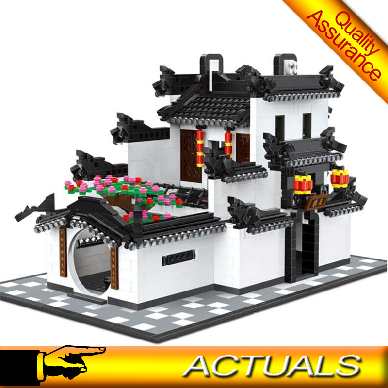 US $27 5 |Wange Architecture 5310 China Hui style Building Blocks 1575pcs  Bricks Educational Toys Compatible with Lego MOC Creator Expert-in Blocks