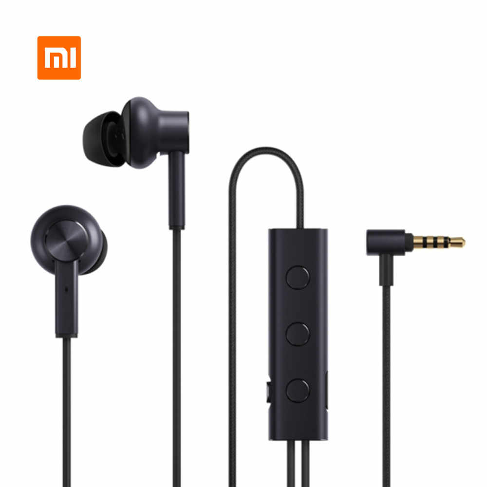 Original Xiaomi 3.5 ANC Earphones Hybrid 3 Unit 2 Grade Noise Cancel 6 Serie Al-Alloy Braid Wire Metal Clamp L Plug Hi-Res Music