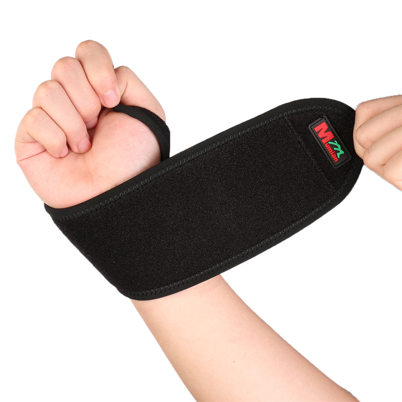Mumian C02 Monolithic Sport Wrist Guard Protector Elastic Stretchy Adjustable Breathable Comfortable Black Free Size Wrist Brace