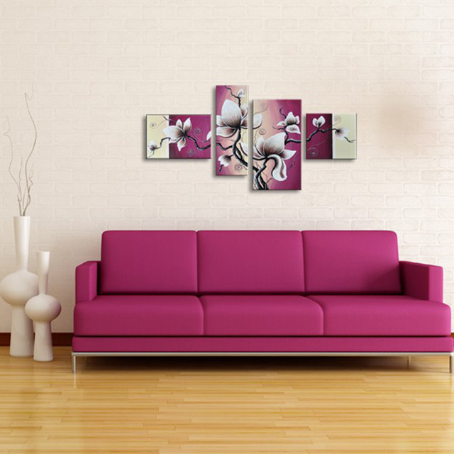 Online Shop Modern Home Decor Abstract Painting Calligraphy White ...