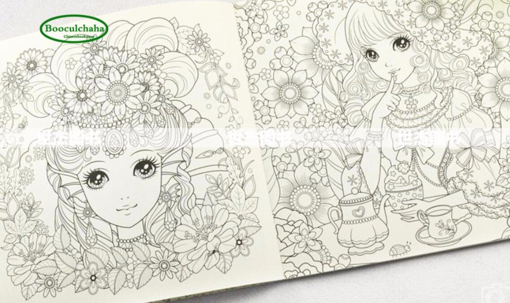 Coloring Book Colored Pencil Graffiti Painting Tutorial Relieve Stress Princess Secret Garden In Books From Office School Supplies On