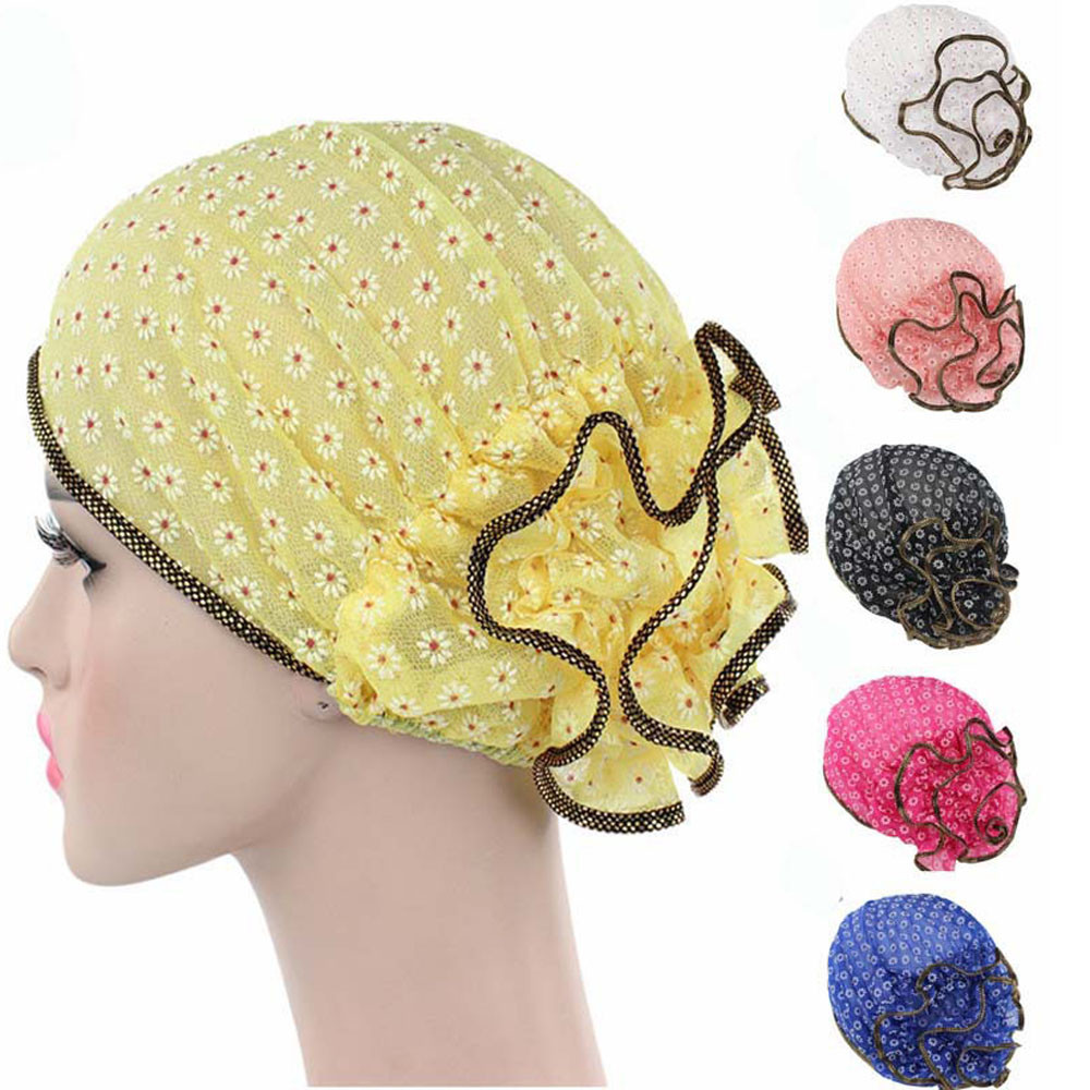 Fashion Cool Women Flower Cancer Chemo Hat Beanie Scarf Turban Head Wrap Cap Thin Hat Breathable термопот sakura sa 353wb white blue