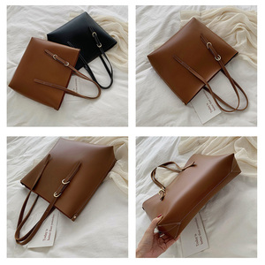 Image 5 - Moda 2 setleri pu deri lüks çanta kadın çanta tasarımcı çantaları yüksek kaliteli kadın omuzdan askili çanta ana kesesi