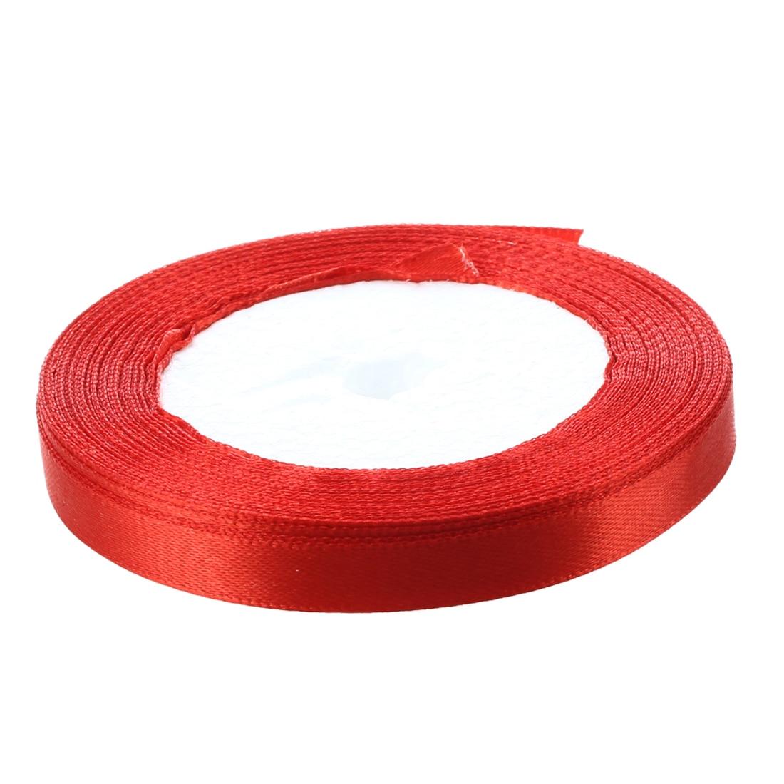 Лидер продаж-3/8 «10 мм 25 ярдов атласная лента, рулон Свадебная вечеринка Craft украшения DIY красный