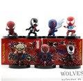 7pcs/set Spiderman Venom Action Figures PVC brinquedos Collection Figures toys for christmas gift Retail box