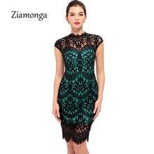 Ziamonga, элегантное женское обтягивающее платье с коротким рукавом, сексуальное коктейльное, вечерние, повседневное, кружевное платье, Vestido De Renda, женские платья