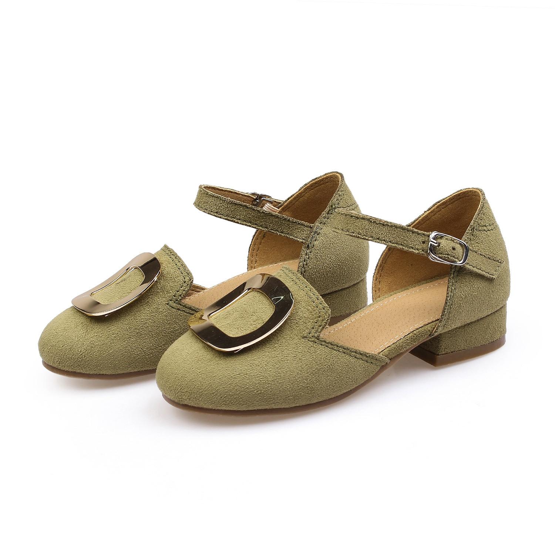 2017 children's shoes girls shoes  metal ladies shoes single shoes