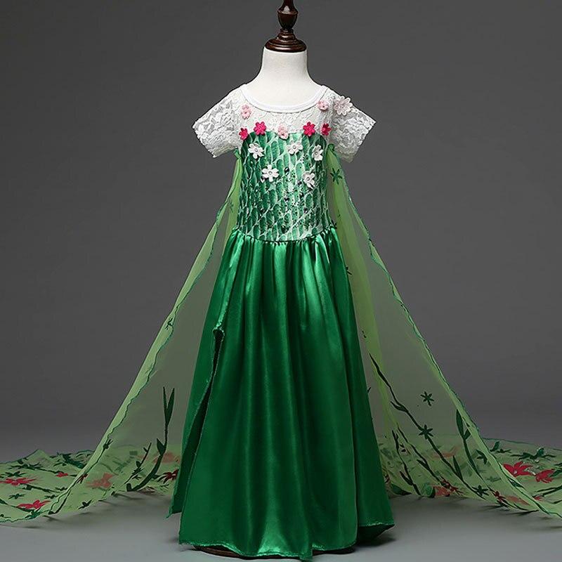 HTB10qJSmSfD8KJjSszhq6zIJFXai 2019 Elsa Dresses For Girls Princess Anna Elsa Costumes Party Cosplay Elza Vestidos Hair Accessory Set Children Girls Clothing