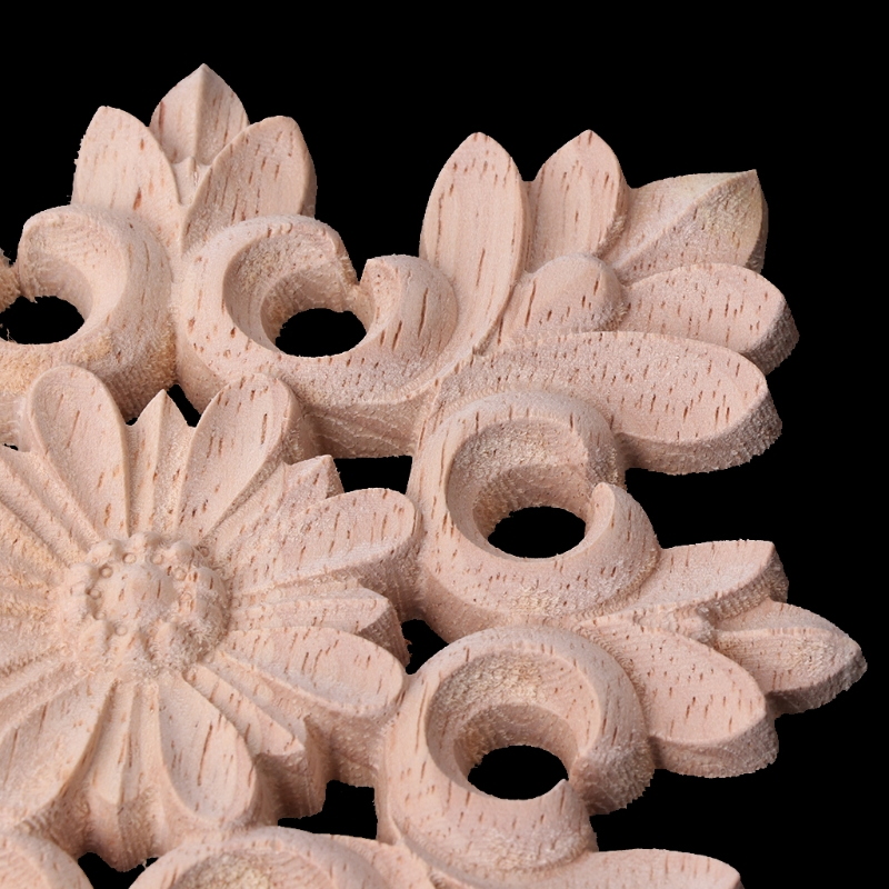 Exquisite Wood Carved Corner Onlay Applique Frame Furniture Unpainted Home Decor in Wood DIY Crafts from Home Garden