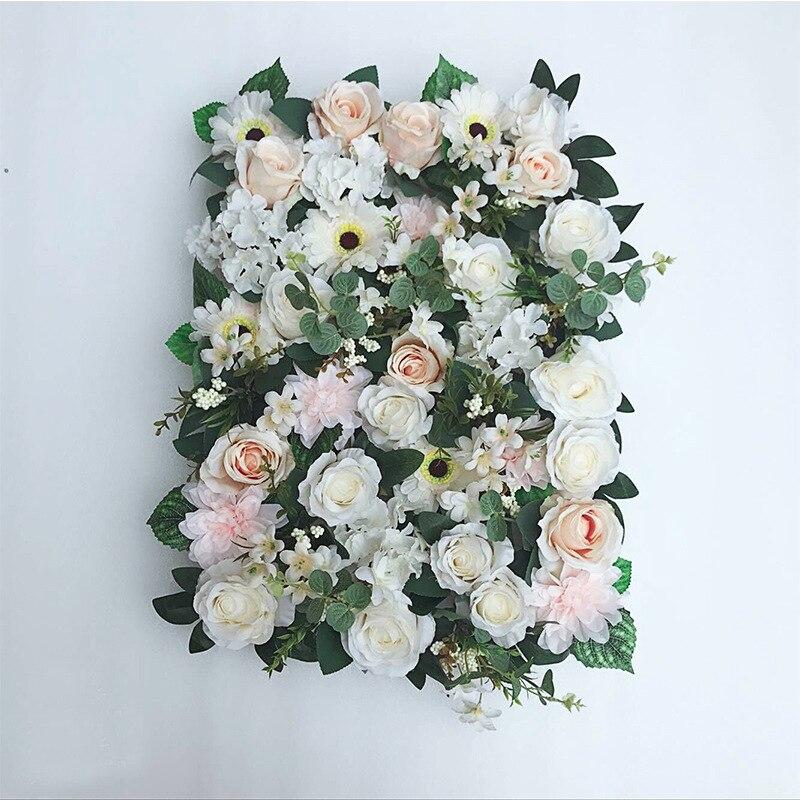 JAROWN Artificial Flower Row Simulation Rose Peony Hydrangea Background Wall Fake Flowers Wedding Feast Arrangement Props Flores (8)