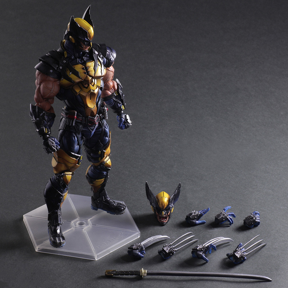 26cm Play Arts Super Hero Wolverine PVC Action Figure Resin Collection Model Toy Christmas Gifts 26cm crazy toys 16th super hero wolverine pvc action figure collectible model toy christmas gift halloween gift