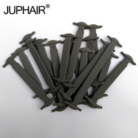 JUP1 50 Sets Gray Fashion Unisex Athletic Ladies Not Ties Silicone Laces Elastic Laces All Fit