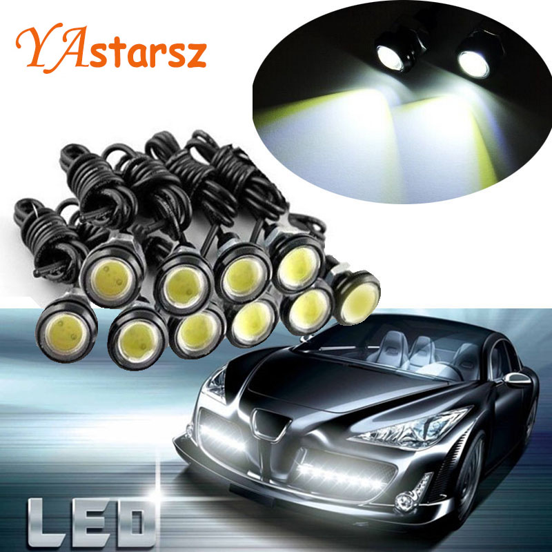 1pcs 18MM Car Led Eagle Eye DRL Daytime Running Lights Source Backup Reversing Parking Signal Lamps Waterproof Free Shipping