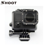 Black Underwater Waterproof Housing Case Cover For Gopro Hero 3 3 4 Sports Camera Go Pro