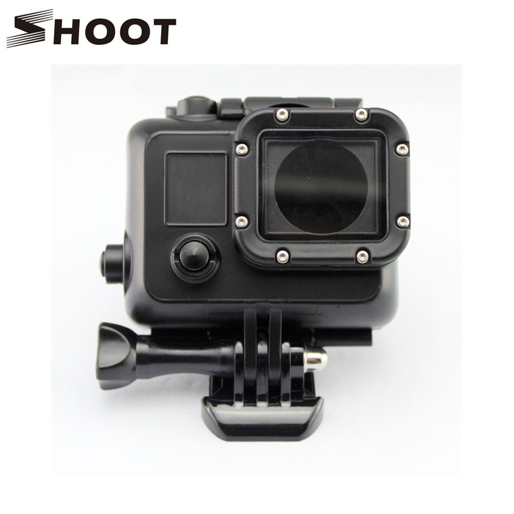 SHOOT 45M Diving Waterproof Housing Case Cover For Gopro Hero 4 3+ 3 Sports Camera GoPro Hero 4 Accessories