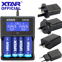 XTAR VC4 18650 Charger 3.6V/3.7V Li ion Batteries USB LCD Chargers 10440 32650 AA AAA Rechargeable 26650 18650 Battery Charger