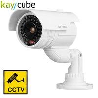 Nouveau Design Étanche Factice Faux CCTV Caméra de Sécurité Clignotant LED Intérieur Extérieur 2000 Blanc