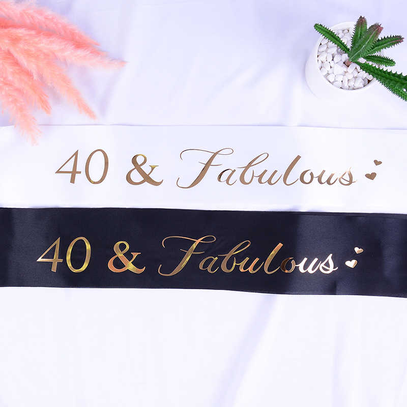 Brillo feliz 21 cumpleaños satinado faja para chica 21 cumpleaños fiesta decoraciones suministros Ideas Favor regalos negro blanco rosa