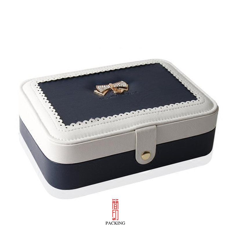 Creative flower Jewelry storage Box cosmetic organizer makeup box Ring Earrings Necklace container Casket Case leopard leatherette jewelry box cosmetic case travel makeup container