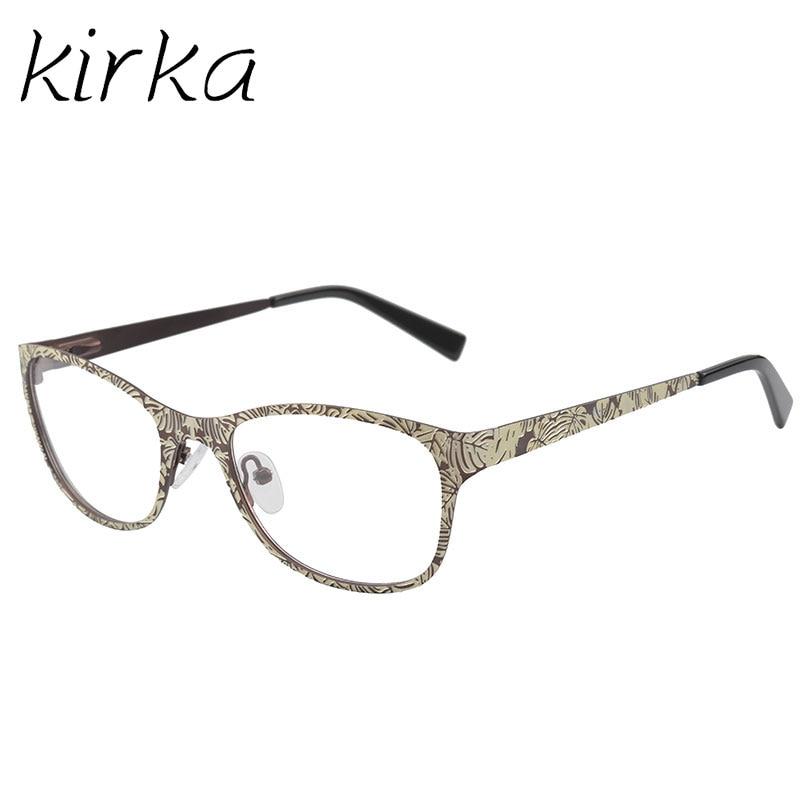 Kirka Hohe Qualität Frauen Metall Edelstahl Brillen Optische Rahmen ...