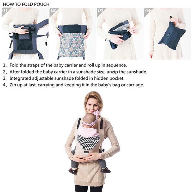 Ergonomic Baby Carriers Backpacks And Portable Baby Sling Wrap For 5-36 Months Babies 17