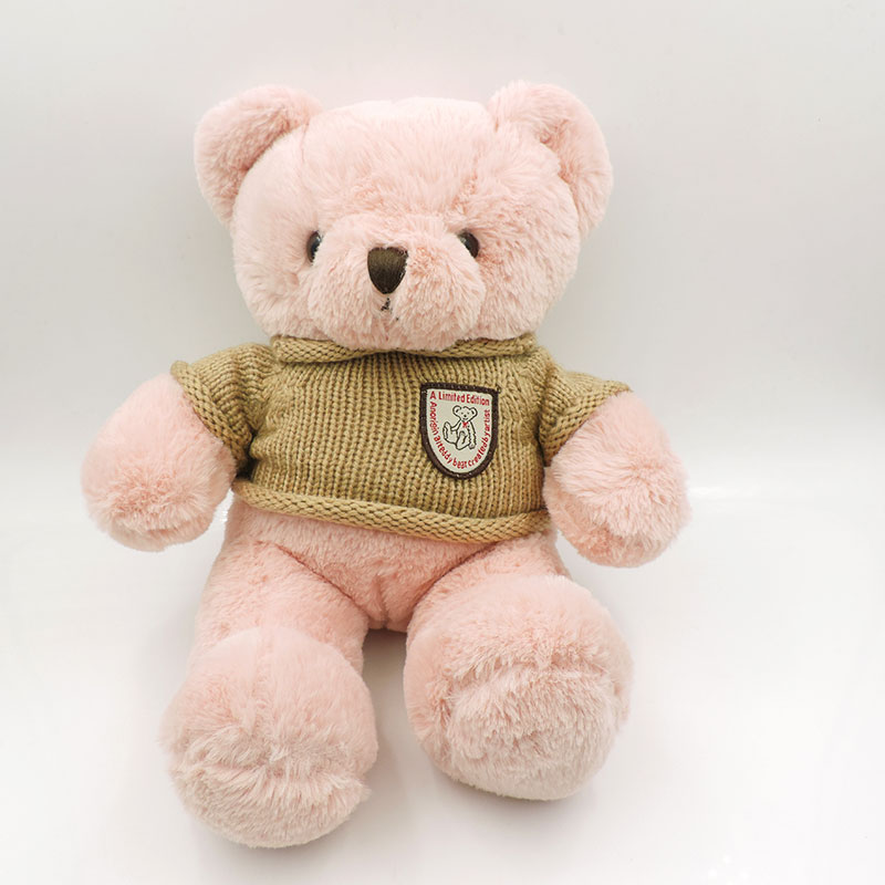 Big Cute Teddy Bears Plush Toys Stuffed Animals Fat Pink Fluffy Teddy Bear Soft Kids Toy Girls Children Gifts Removable Sweater cartoon movie teddy bear ted plush toys soft stuffed animal dolls classic toy 45cm 18 kids gift