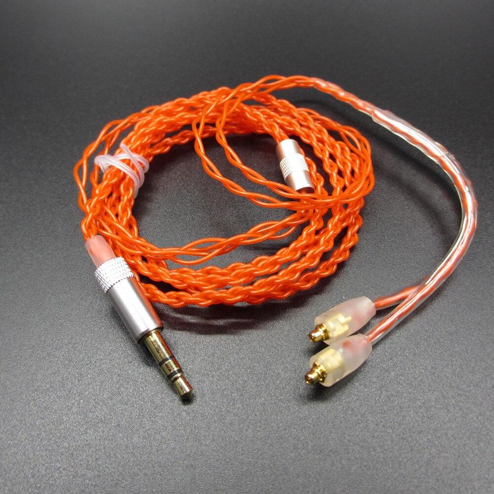 bilder für Neue ankunft 1,2 mt 5n occ einkristall silber überzogene kupfer kopfhörerkabel hifi kopfhörer linie für shure pin serie (535/215 etc.)