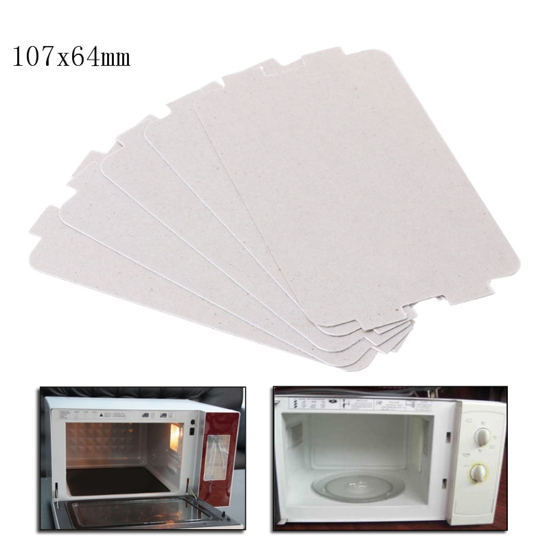5Pcs Microwave Oven Mica Plate Sheet Thick Replacement Part 107x64mm For Midea