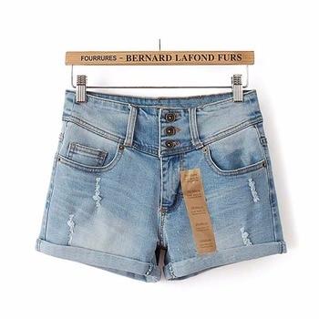 Thin Beaded High Waist Shorts 2