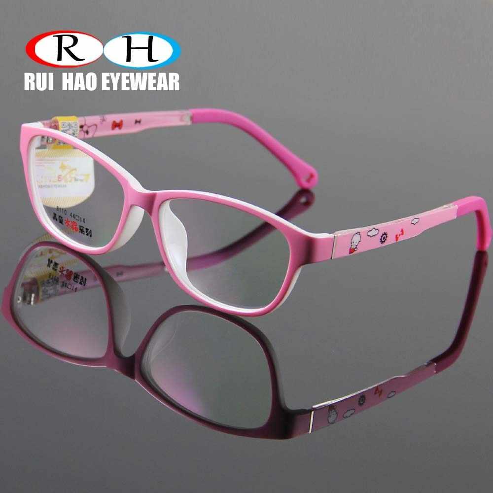 ab697c5cf1 Súper luz niños gafas marco chico chica la ambliopía hipermetropía miopía óptica  gafas