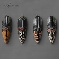 Aqumotic Big Face Mask The Black White Australian Aboriginal Art Masks Large Sign Style Window Decoration Rustic Home Decor Wall