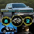8x Car Interior LED Kit Roof Dome Map License Plate Light For Silverado Crew Cab & Ext Cab 2012 White/Red/Crystal Blue/Pink #38