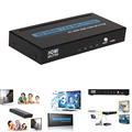 Cheap Full HD 1X4 Port HDMI Splitter Amplifier Repeater 3D 1080p 1 in 4 out Box Converter  HDMI VGA Adapter HDMI Cable #LD456