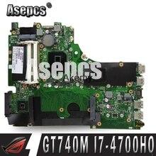 Asepcs X750JB материнская плата для ноутбука ASUS A750J K750J X750JN X750J Материнская плата ноутбука I7-4700HQ материнская плата с GT740M