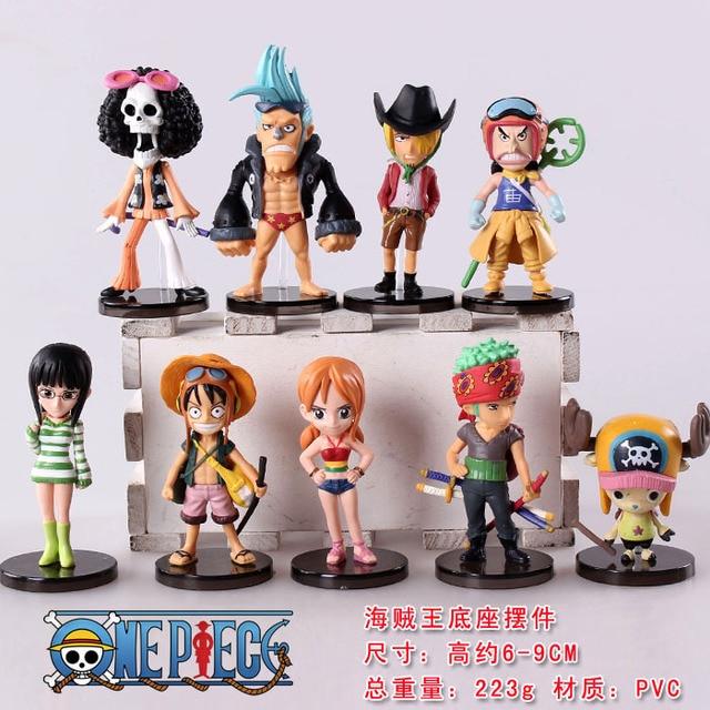 9pcs set Anime One Piece Mini Aksi Angka Topi Jerami Luffy   Roronoa Zoro  Sanji 5656149674
