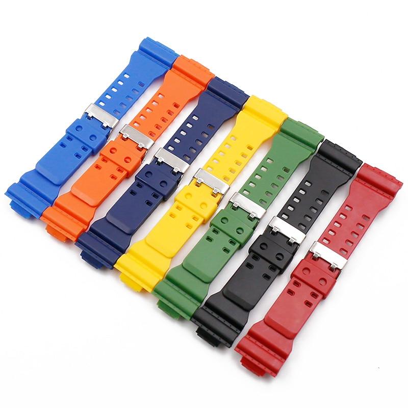 Accessoires de montre bracelet en caoutchouc hommes boucle ardillon résine bracelet de montre adapté pour Casio g-shock GD120 GA100 GA110 GA400 bracelet de montre