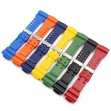 80dd67fcb5b Assista Acessórios Pulseira de Borracha dos homens Pin Fivela de Resina Relógio  Cinta Apropriada para Casio G-choque GD120 GA100.