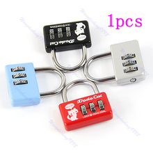 Newest  Mini Combination Luggage Suitcase 3 Digit Number Security Cable Lock Padlock