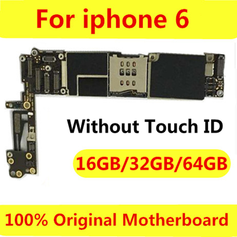 Tested Good Working Original 16GB 32GB 64GB Motherboard for iPhone 6 6G Factory Unlocked Mainboard Logic Board with IOS system